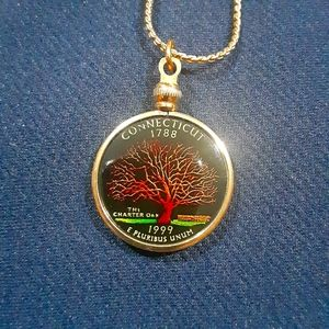 Connecticut gold tone quarter 1999 charter tree